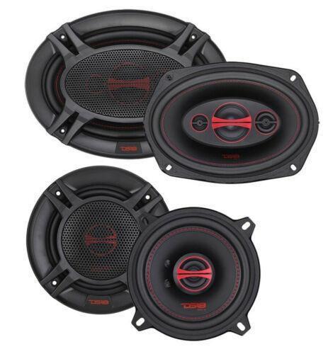 """DS18 GEN-X 6x9"""" + 5.25"""" Car Audio Door Speakers Combo 630 Watts 4 Ohm Coaxial"""