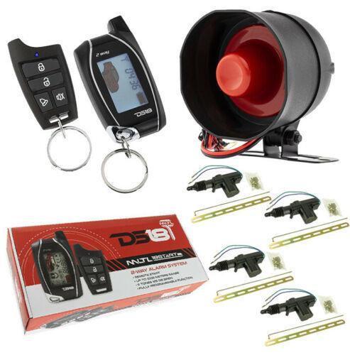 2 Way Keyless Entry 4 Door Locks LCD Remote Start Car Alarm Security 1000 Meters