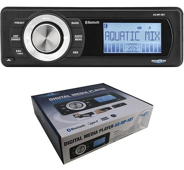 MP-5BT Bluetooth Waterproof Marine Radio AM/FM iPod MP3 Stereo USB