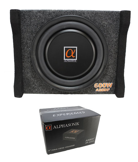 "Alphasonik 8"" 600 Watt 4 Ohm Single Down-Firing Sealed Enclosure AS8DF"