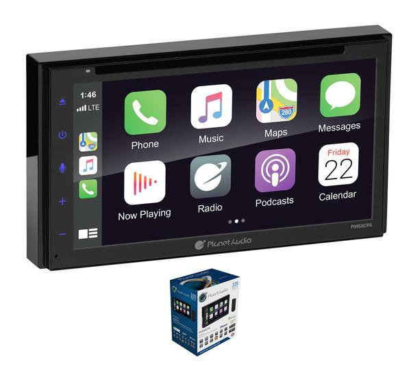 "Planet Audio 6.75"" Double Din Apple Carplay Bluetooth Touchscreen Head Unit"