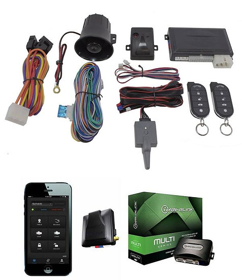 Remote Start With Key Bypass and GPS Tracking Mobile App G5 + ADS-AL-CA + G3 Scy