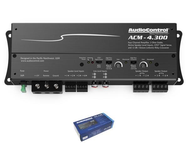 AudioControl 4 Channel 2 Ohm Stable Micro Class D Motorcycle Amplifier ACM-4.300