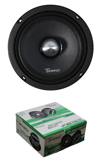"Timpano 250 Watt 6"" Mid Range Bullet Loudspeaker Pro Car Audio MR6-4 Bullet"