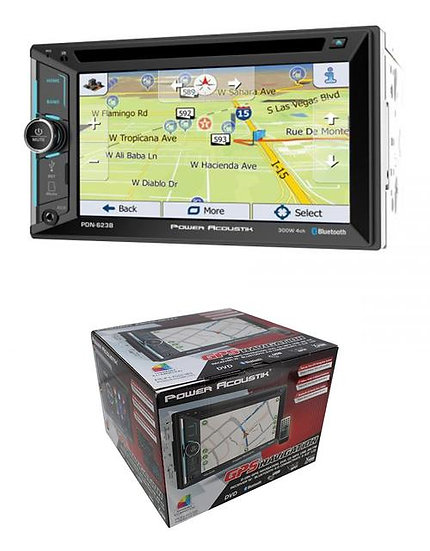"PDN-623B 2 Din 6.2"" GPS Navigation Head Unit Bluetooth AUX CD/DVD Radio"