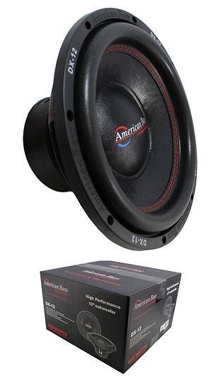 "12"" Subwoofer 600W Single 4 Ohm Bass Pro Car Audio American Bass DX-12"