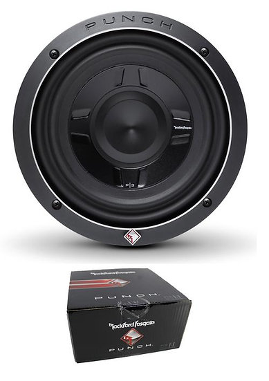 """Rockford Fosgate 8"""" Punch P3S Shallow 300W Dual 4 Ohm Subwoofer P3SD4-8"""