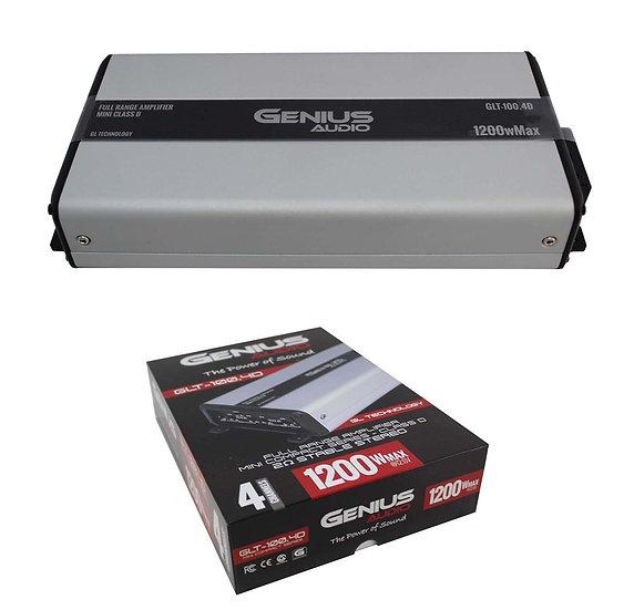 Full Range 4 Channel 2 Ohm Class D Stereo Mini Amplifier 1200W Genius Audio GLT-