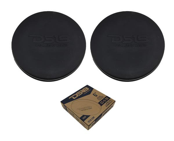"""Pair of Black DS18 HYDRO 6"""" Silastic Silicone Marine Speaker Covers CS-6/BK"""