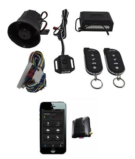 Car Alarm Security Keyless Entry Scytek G27 + Mobilink App G3 GPS Tracker Combo