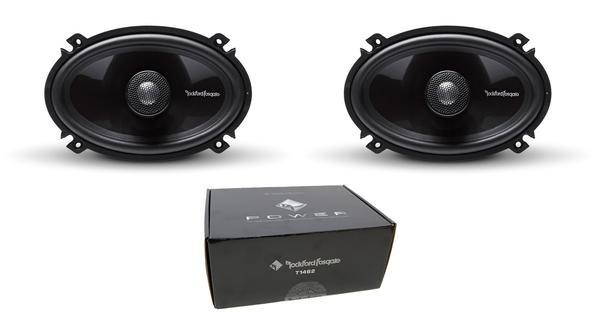 "Pair of Rockford Fosgate Power 4""x6"" 180W 4 Ohm 2-Way Full-Range Speakers T1462"