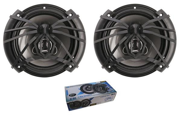 """Pair of SoundStream Arachnid 6.5"""" 300W 4 Ohm 3 Way Coaxial Speakers AF.653"""