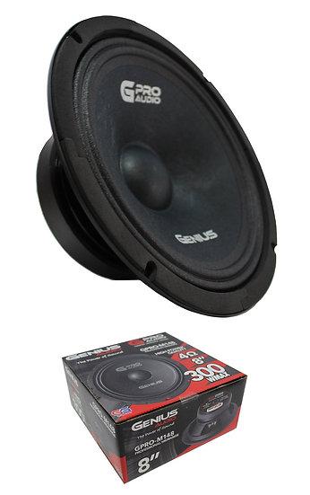 "8"" Midrange / Midbass 300 Watt Speaker 4 Ohm Genius Audio GPRO-M148"