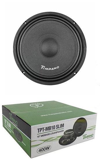 "10"" Slim Midbass Loudspeaker 400W 4 Ohm Pro Car Audio Timpano TPT-MB10"