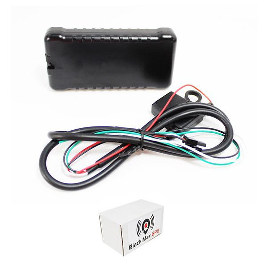 Black Max GPS Real-Time GPS Tracking w/ Theft Fence & Speeding alerts