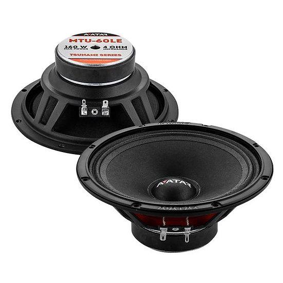 """Avatar Tsunami MTU-61LE Black 300 Watts 4-Ohm 6.5"""" Mid-Range Speakers"""