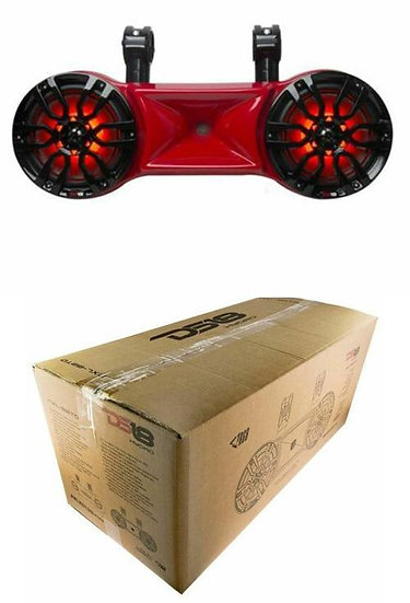 """DS18 NXL-82TD 8"""" Red Wake board Tower Speakers RGB LED Lights 900W Marine"""