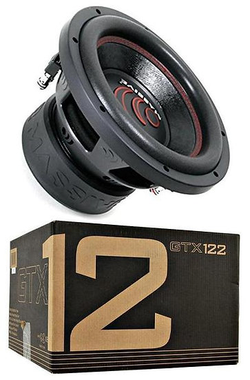 "Massive Audio GTX122 1400 W Max 12"" Dual Voice Coil 2 Ohm Car Audio Subwoofer"