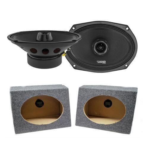 "2x DS18 6 x 9"" Pro Car Audio Speakers 1100W Coaxial 6x9 Speaker Box Enclosure"