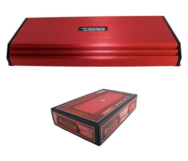 1800 Watt 4 Channel Full Range Class AB Amplifier Red DS18 S1800.4