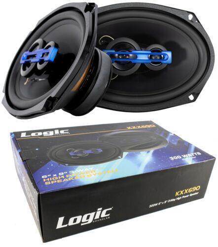 "2x 6x9"" 3 Way Coaxial High Power Speakers 600 Watts 4 Ohm Pro Car Audio"