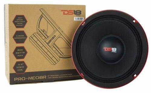 "DS18 800W Mid Bass Neodymium Midrange 4 Ohm Car Speaker 8"" PRO-NEO8R"