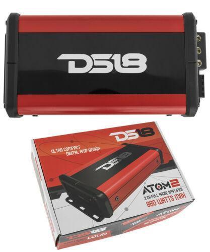 Mini Full Range Compact Amplifier 880W Motorcycle ATV UTV BIKE DS18 Nano 2Ch