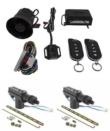 Car Alarm Anti Theft Security System G27 Scytek + 2 x Power Door Lock Actuators