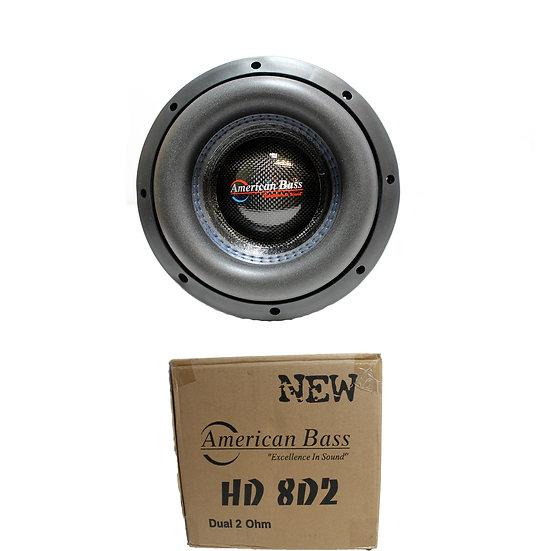 "American Bass 8"" HD Series 800W Dual 2 Ohm Subwoofer HD-8-D2"