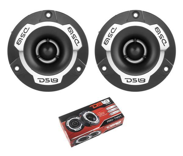 "Pair of DS18 1"" Silver 240W 4 Ohm Pro Aluminum Super Bullet Tweeter PRO-TWX1"