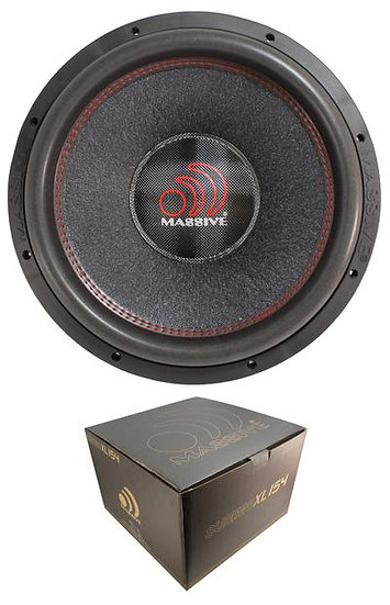 """Massive Audio SUMMO XL Series 15"""" 3000W Dual 4 Ohm Subwoofer SUMMOXL154"""