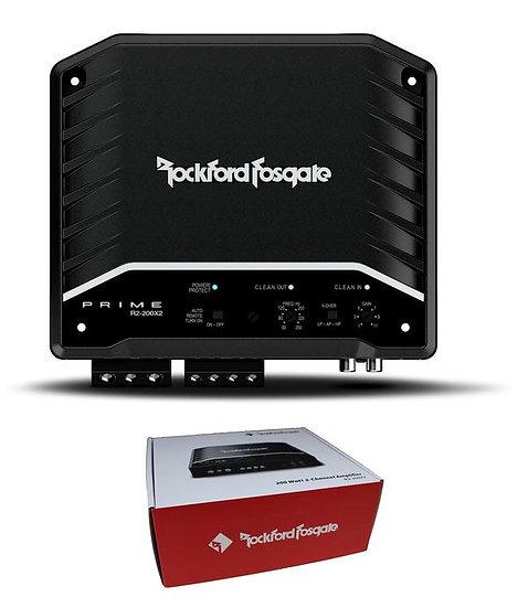 Rockford Fosgate Prime 200W 2-Channel Full Range Class D Amplifier R2-200X2