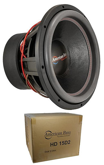 """American Bass 15"""" HD 4000W Dual 2 Ohm Competition Subwoofer HD-15-D2"""