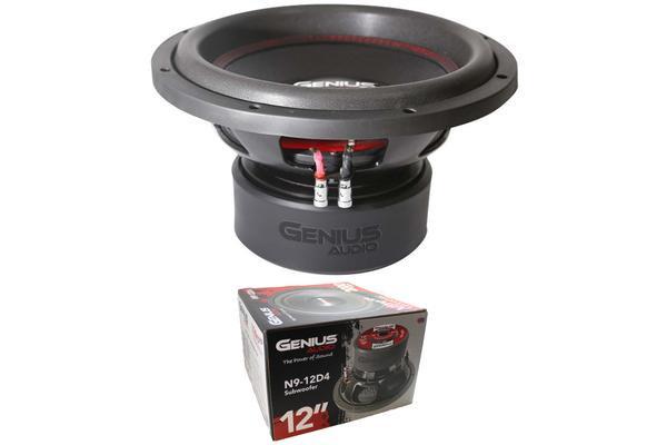 """Genius Audio Nitro Series N9-12D4 12"""" 2000W Dual 4-Ohm VC Subwoofer"""