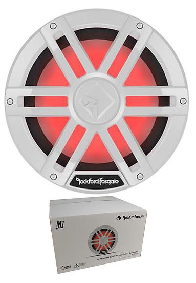 """Rockford Fosgate White 10"""" 1200W Dual 4 Ohm Switchable Marine Subwoofer M1D4-10"""