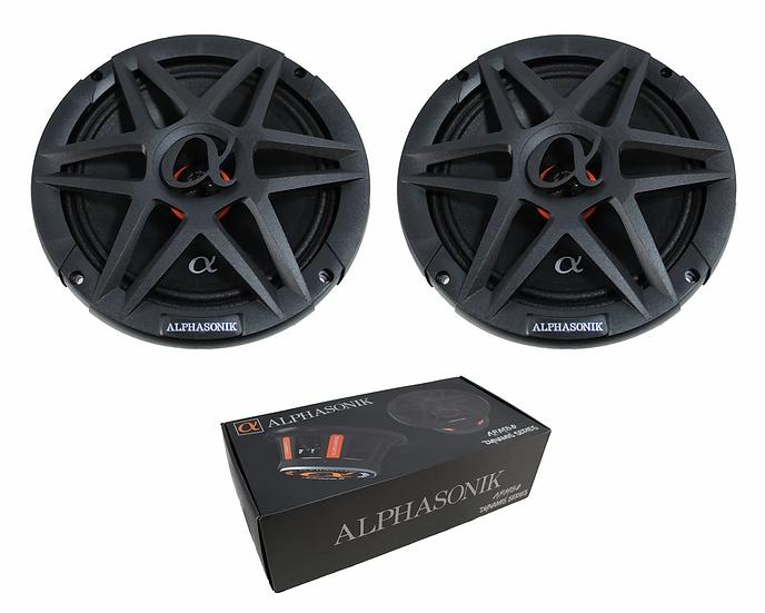 "Pair of 8"" Alphasonik 1600W Mid Range Speakers 4 Ohm Pro Car Audio ABM80"