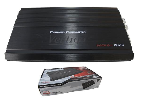 Power Acoustik Vertigo Series 8000W Class D Monoblock Amplifier VA1-8000D