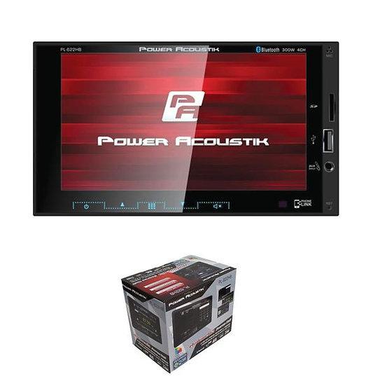 "Power Acoustik 2-DIN Multimedia Receiver 6.2"" LCD w/ Bluetooth, AUX, USB, & DVD"
