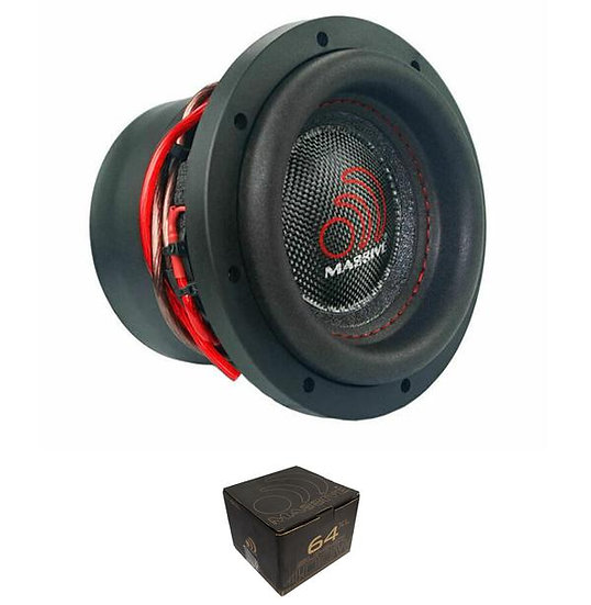 "Massive Audio 6.5"" Single 4 Ohm Voice Coil 400 Watts Subwoofer SUMMO64XL"
