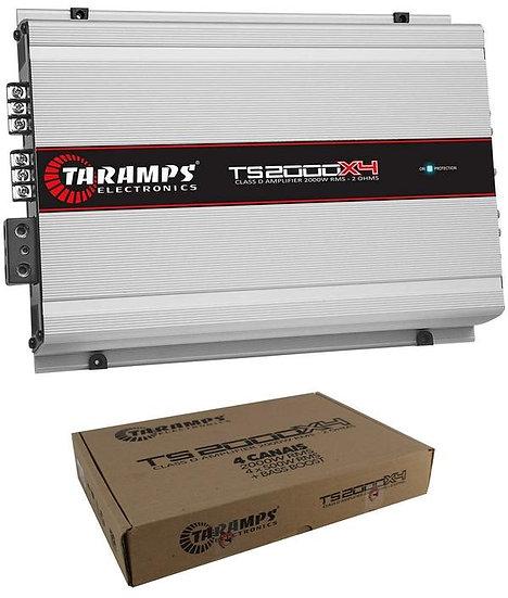 Taramps TS2000X4 Full Range 4 Channel 2 Ohm Class D 2000W Car Audio Amplifier