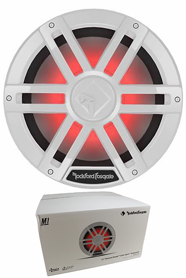 "Rockford Fosgate White 12"" 1200W Dual 2 Ohm Switchable Marine Subwoofer M1D2-12"