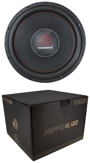 "Massive Audio HIPPOXL122 4000 Watt 12"" 2 ohm Hippo Car Audio Subwoofer Sub"