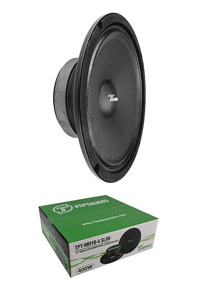 "Timpano MR10-4 Slim 10"" Mid Range 4 Ohm 400W Speaker Car Audio"