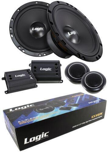 "2x 6.5"" 2 Way High Power Component Speaker System 250 Watts 4 Ohm Pro Car Audio"