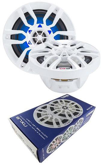 "Marine Speakers 8"" White Power Sport RGB LED DS18 Hydro NXL8 1 PAIR 750 Watts"