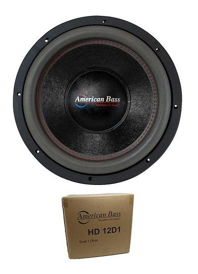 "American Bass 12"" HD Series 4000W Dual 1 Ohm Subwoofer HD-12-D1"