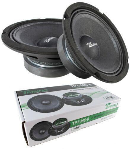 "Pair of 6"" Mid Range Loud Speakers Pro Audio 280W 8 Ohm Timpano TPT-M6-8"