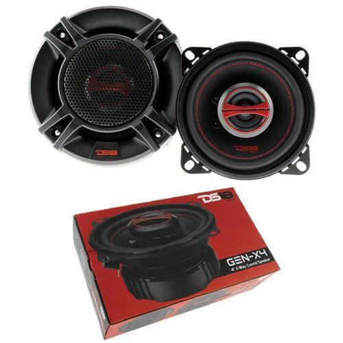 "Pair of 4"" 2-Way Coaxial Speaker 240 Watts Dome Tweeter 4 ohm DS18 GEN-X4 Series"