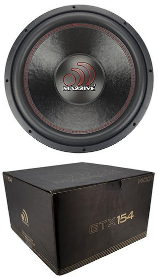 "Massive Audio GTX154 1400 W Max 15"" Dual Voice Coil 4 Ohm Car Audio Subwoofer"