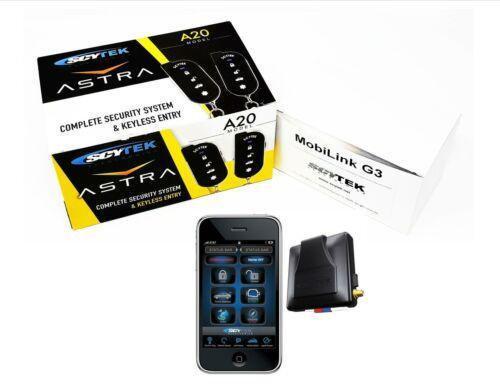 Car Alarm Security Keyless Entry Scytek A20 mobilink App G3 GPS Tracking Combo